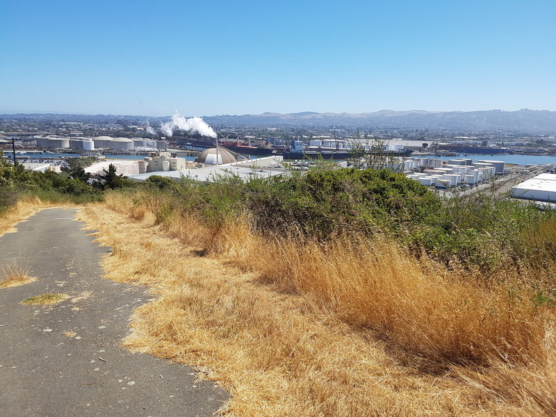 Views of Water Treatment and Refinery on the Crest Trail