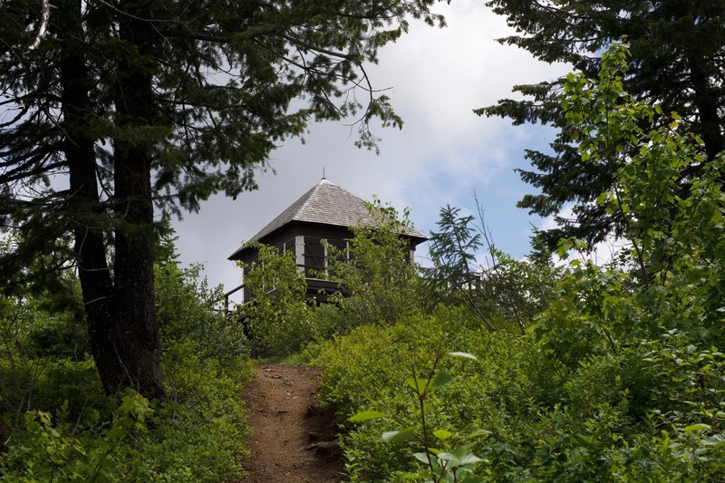 The Apgar Lookout tower sits at the top of one final climb.
