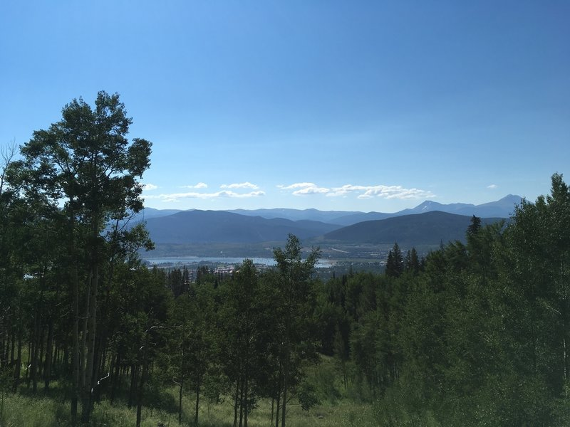 Looking over Dillon Reservoir from the Meadow Creek Trail.
