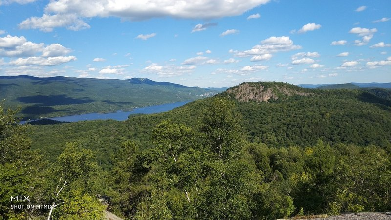 Beautiful view of lac tremblant and nez de l'indien from montagne verte