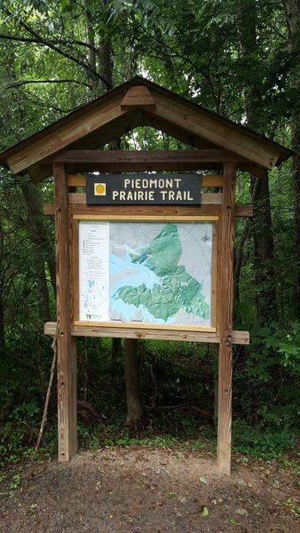 The Trailhead to the Piedmont Prairie Trail