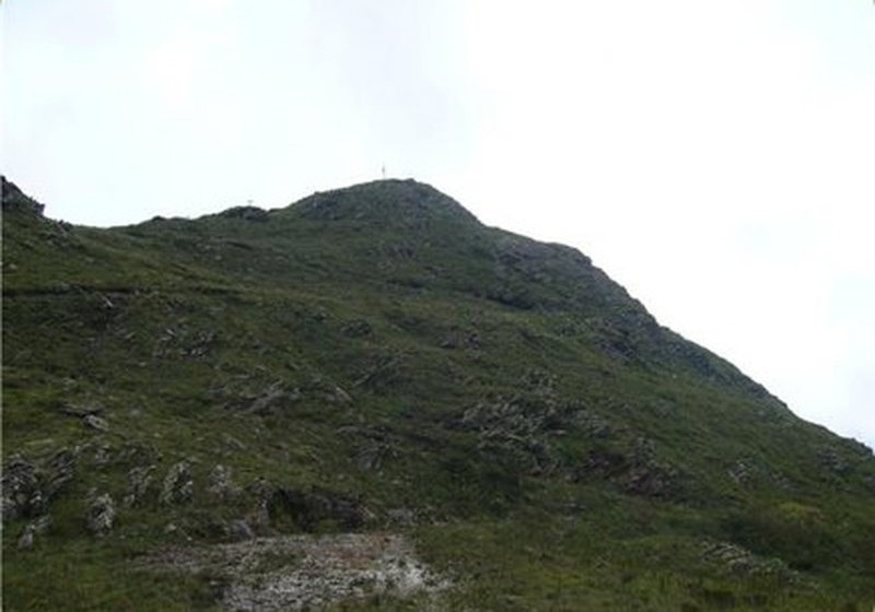Canjeranas peak from the weather station