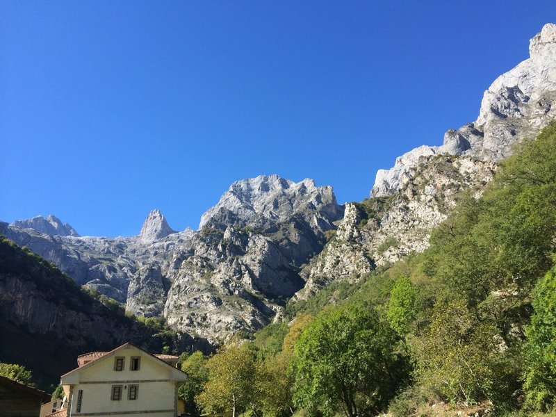 Completing the hike in the town of Cain de Valdeon