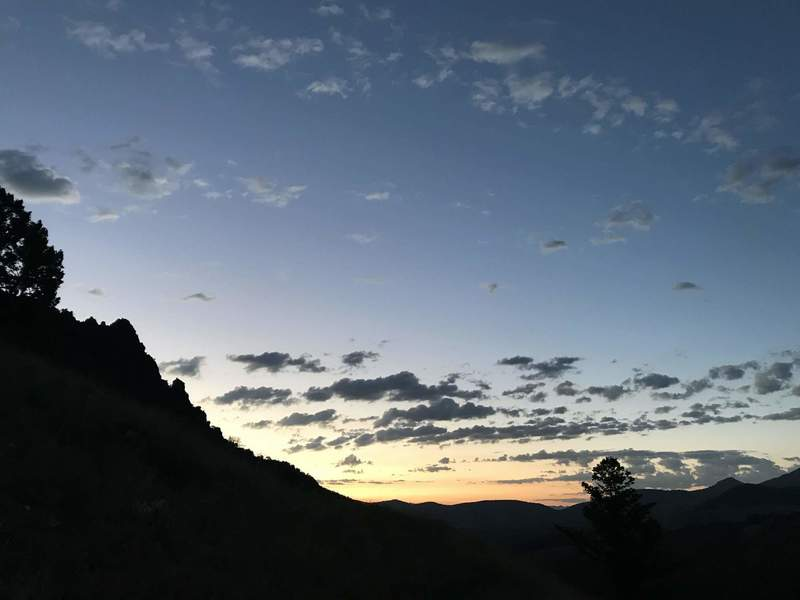 The trail at dawnbreak. A magnificent time to run it.