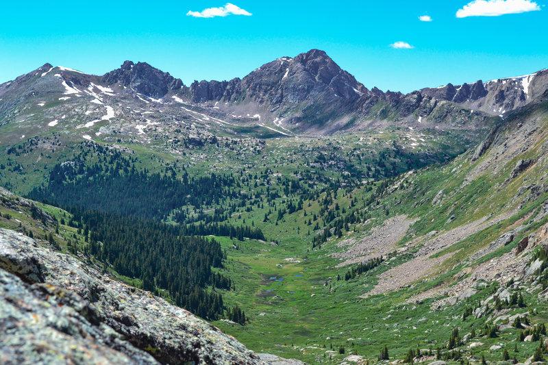 A view down Lost Man Lake basin.