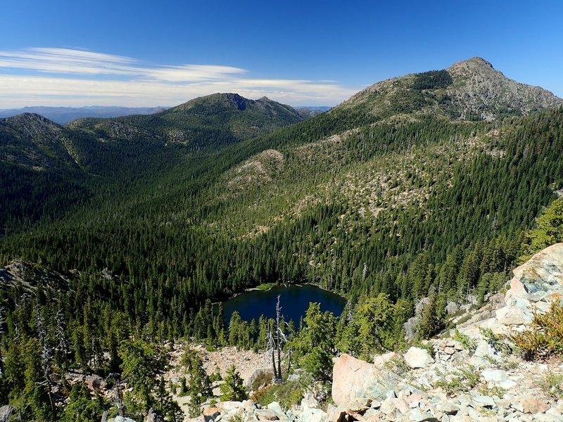 Raspberry Lake from Preston's northwest ridge