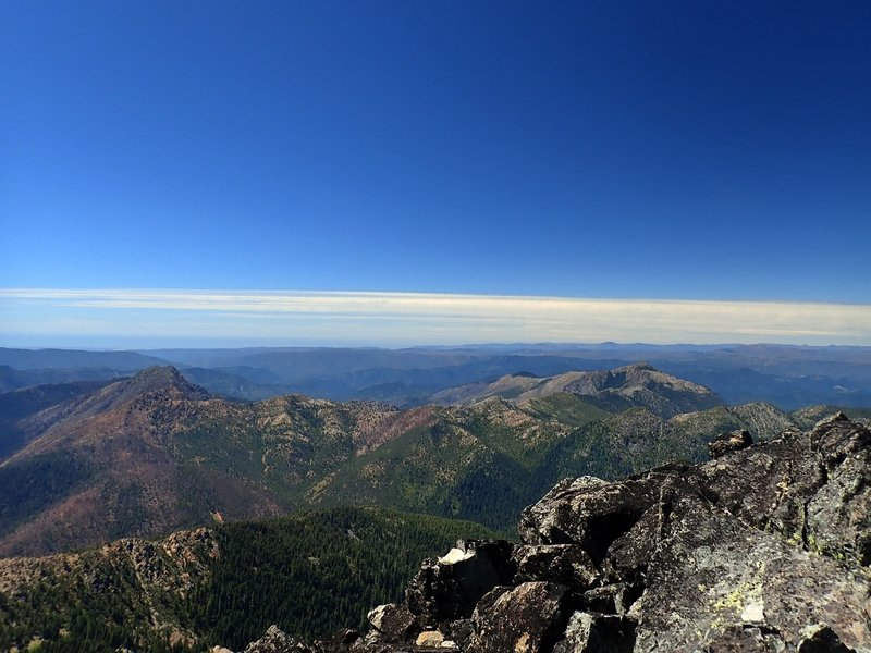 The Pacific Ocean from the summit of Preston Peak.