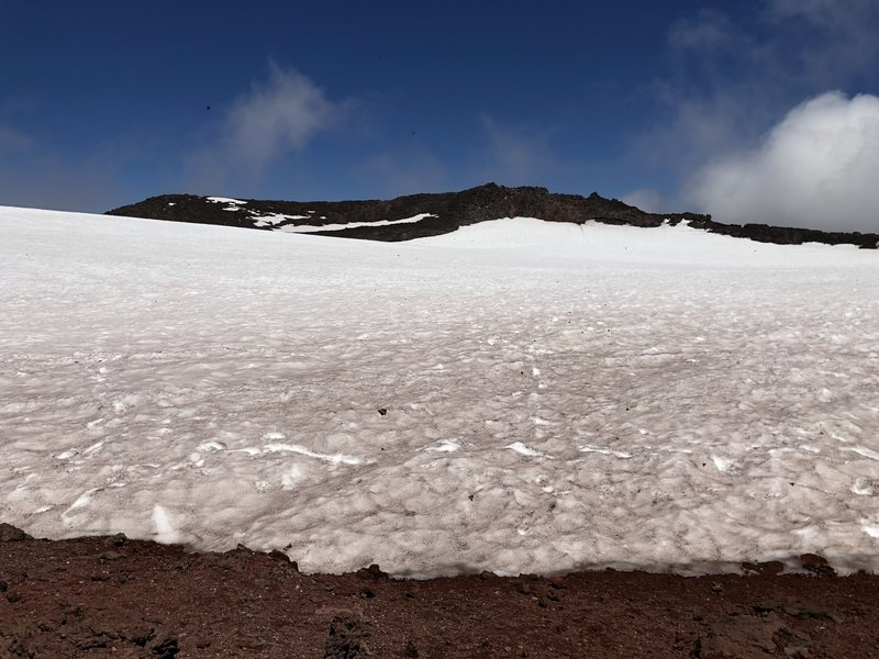 First view of summit crater