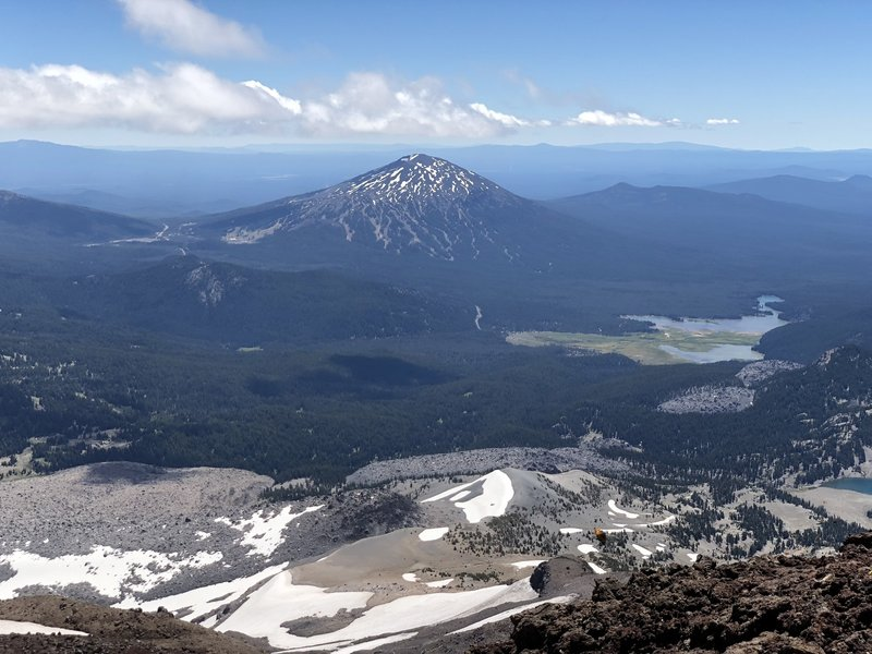 Mount Bachelor from South Sister summit