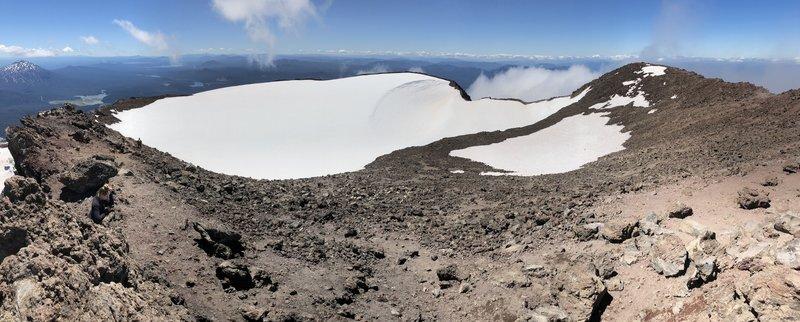 Summit crater panorama