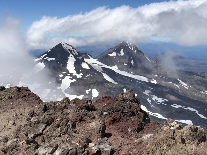 North and Middle Sisters from South Sister Summit