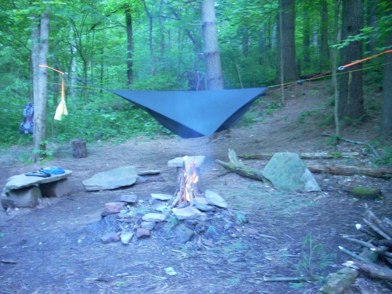 Sweet campsite midway around loop