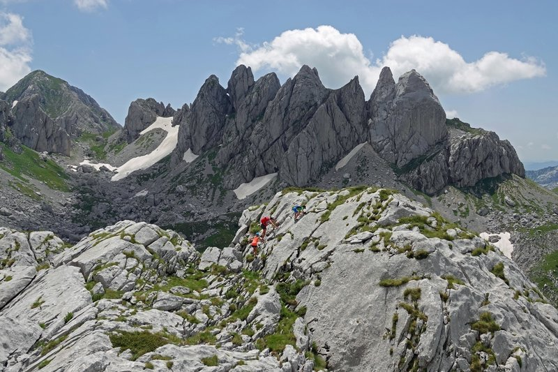 Sawtooth scenery in the Durmitor Mountains