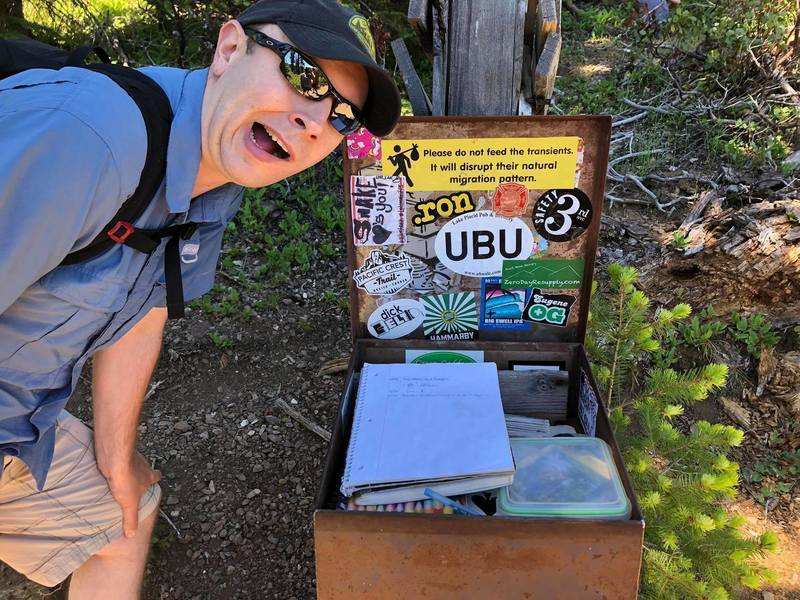 Trail log at OR/CA boarder