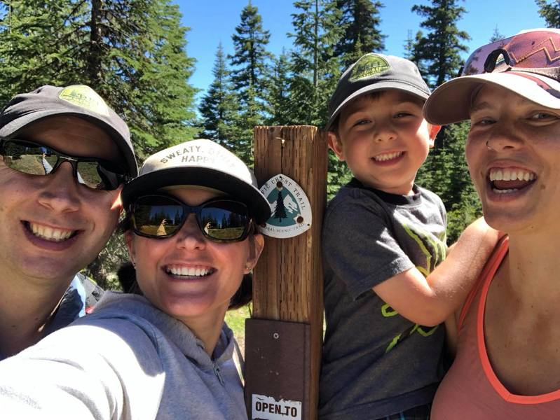 Trail Marker for PCT at NF Road 2025 crossing