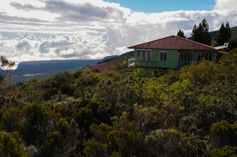 Gite du Volcan is a hikers' hostel you start your hike right from