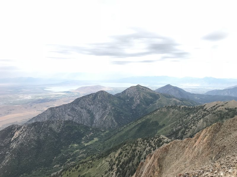 Mt. Nebo summit looking north towards Utah Lake