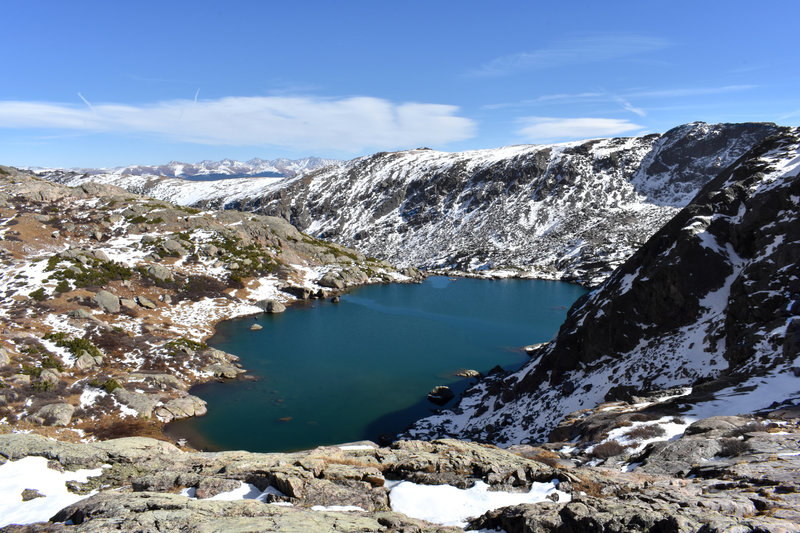 Nearly to the upper lake, and looking down on Lower Tuhare Lake.