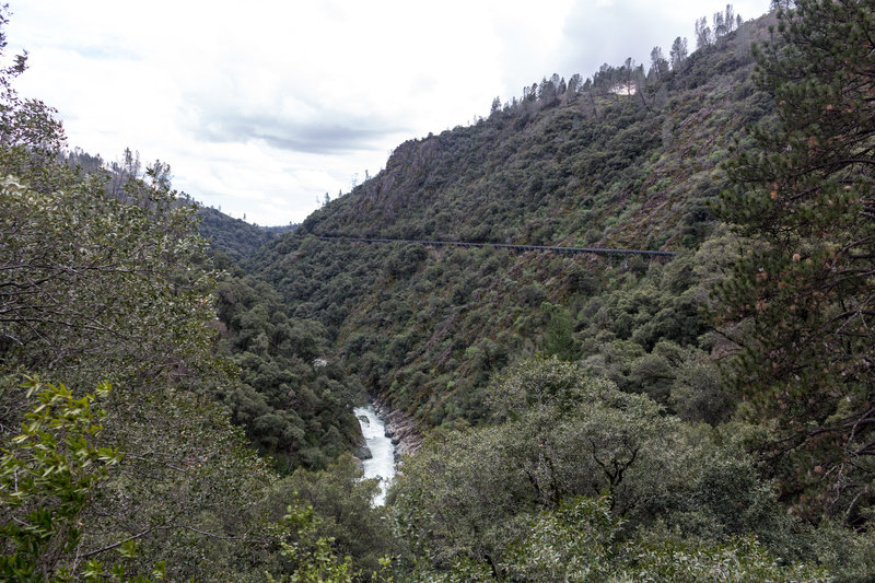 West Branch Feather River and the flumes paralleling it