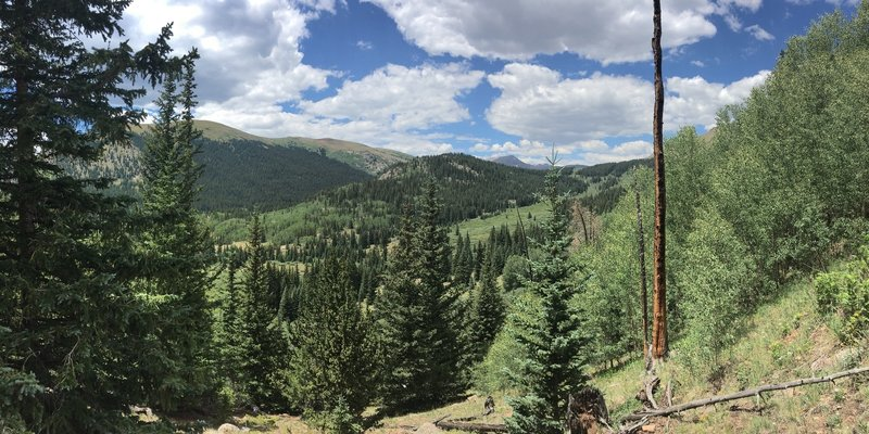 The view from the switchbacks after the trail intersection
