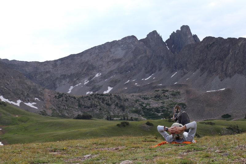 Nokhu Crags from Thunder Pass