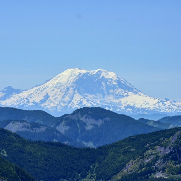 Mount Rainier from the Ira Spring Overlook