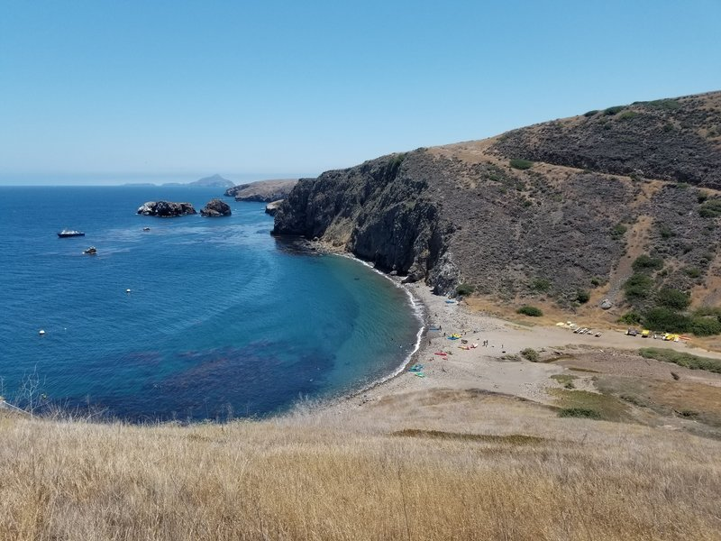 Scorpion Anchorage with Anacapa Island and Scorpion Rock