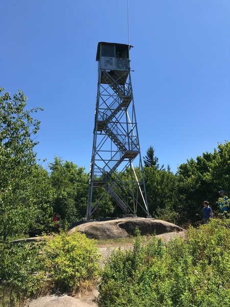 Fire tower at summit of Mt Arab