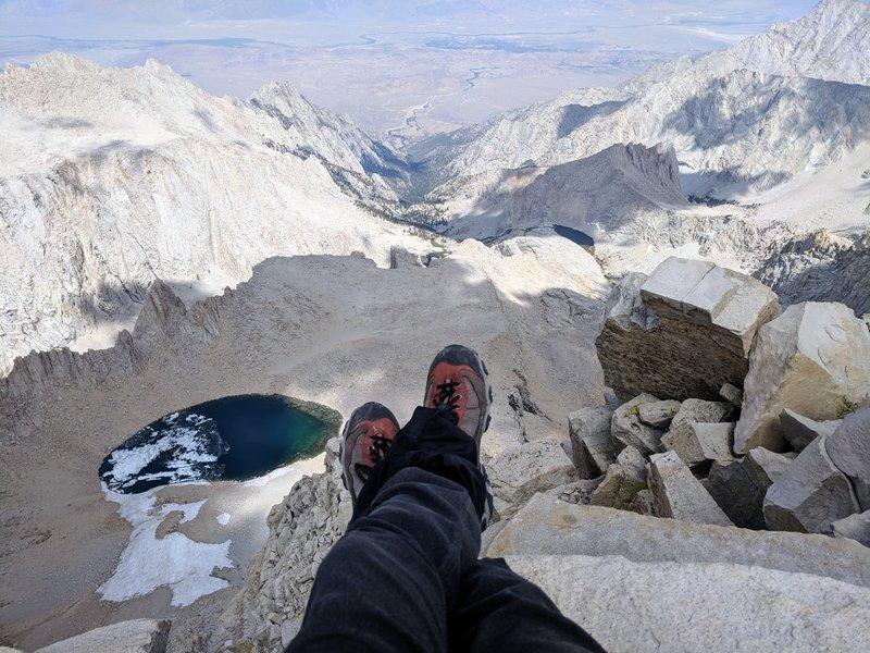 Sitting atop Mount Whitney