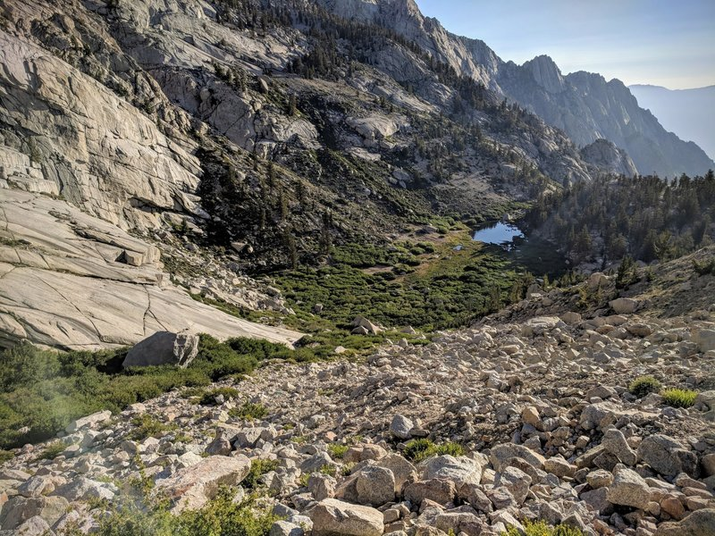 Looking back down towards Lower Boy Scout Lake.