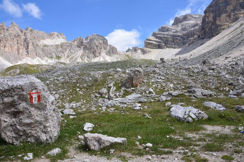 Forces de Sieles ridge from below