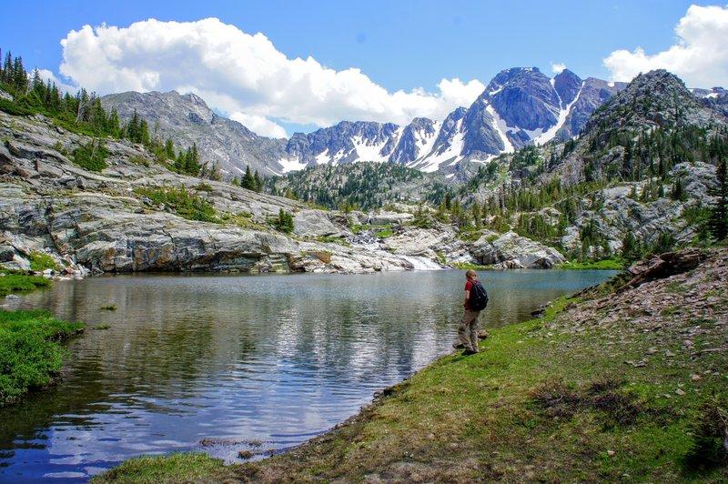 Standing on the edge of Jewel Lake