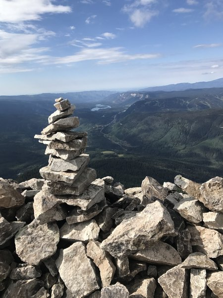 Cairn at the summit