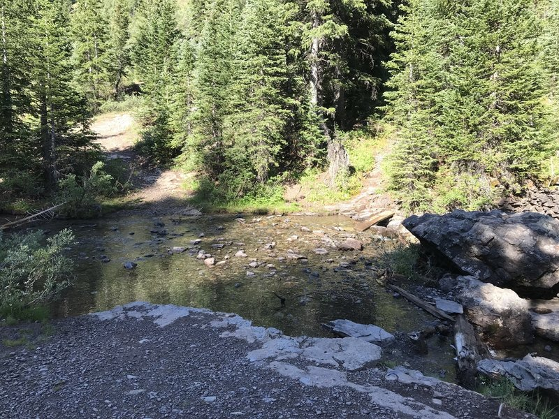 Creek crossing on Bridal View Trail - start of trail.