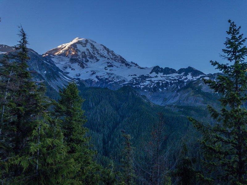 Great Sunrise on Mt. Rainier from the approach trail