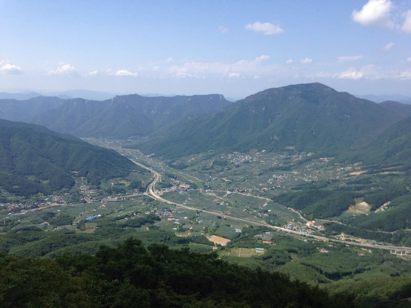 Basin in South Korea from youngnam alps