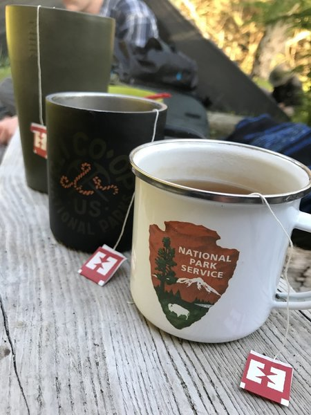 Nothing like a good up O tea to keep one warm while backpacking.