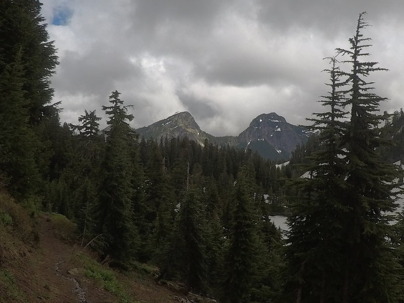 Looking back on Skagway Pass.