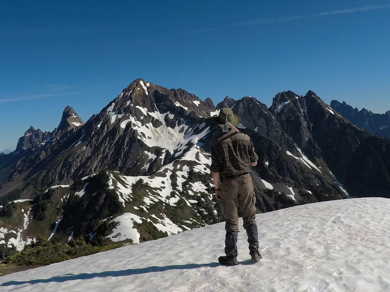 Looking over at the American Border Peak.