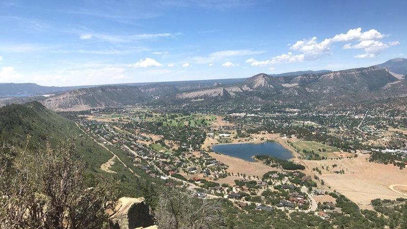 Views of durango from Skyridge Trail