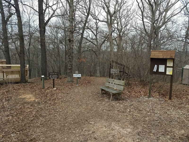 Trailhead at end of paved trail