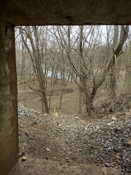 View coming out of the tunnel facing the Meramec River