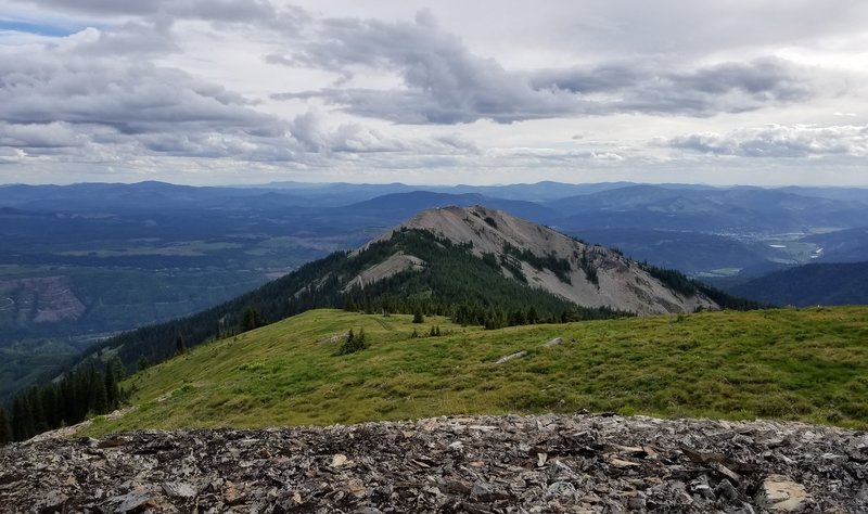 Peak Looking West toward FR-550 and Baldy Peak