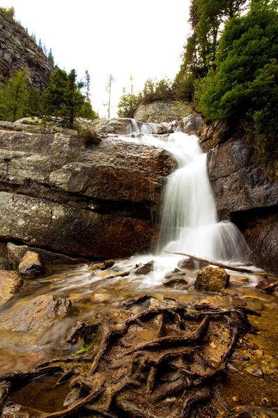 Waterfall next to Lake Agnes tea house
