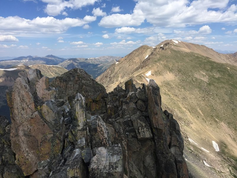On top of the small and exposed second summit