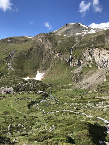Trift house along a glacier feed stream