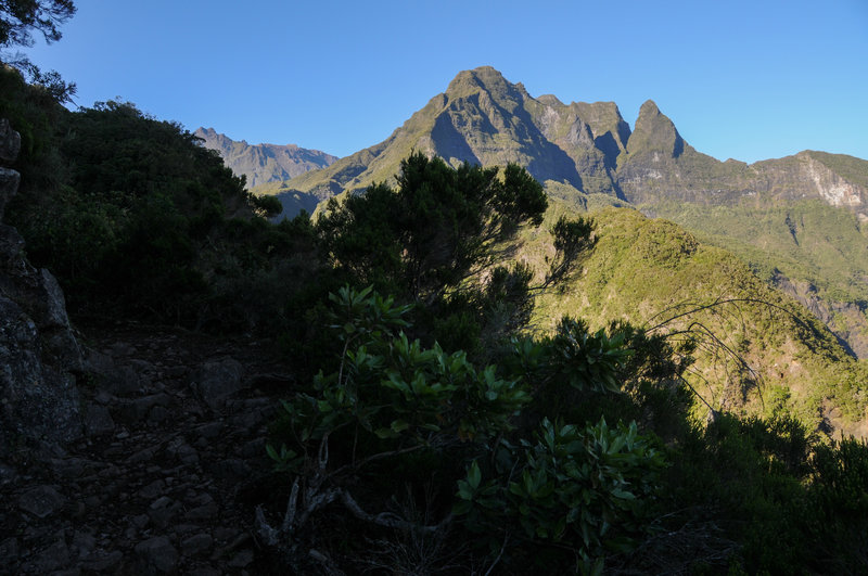 Along much of the route there are excellent views to Piton des Neiges and whatever the cool peak in the center is called