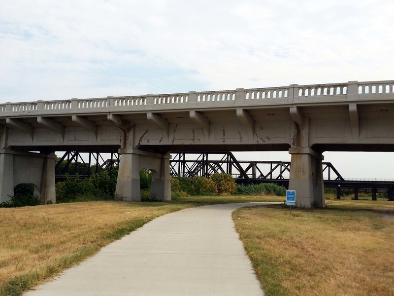 Just around the bend from Cold Springs: rail tracks from the early 1900's, and a contemporary overpass