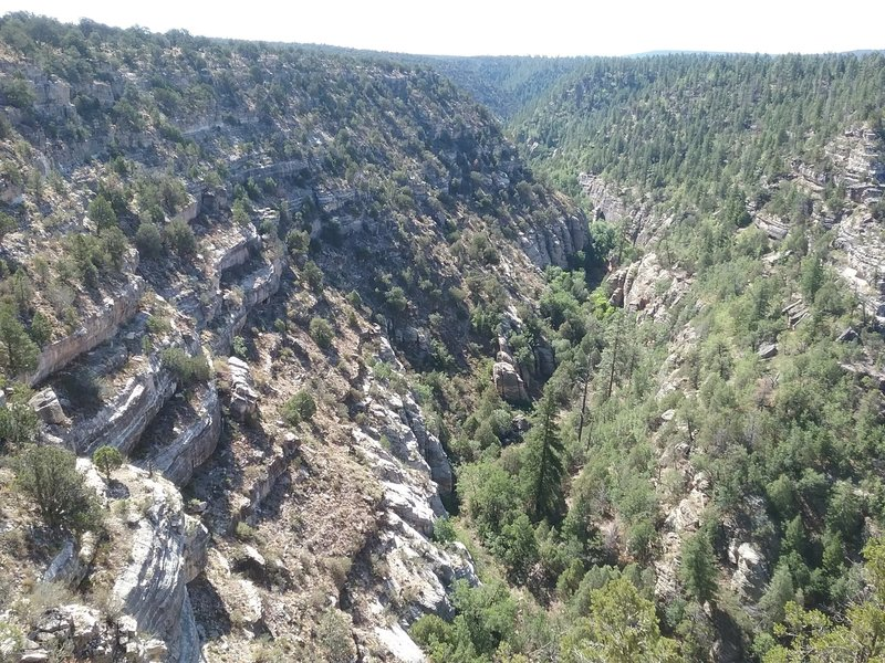 View of  Walnut Canyon.