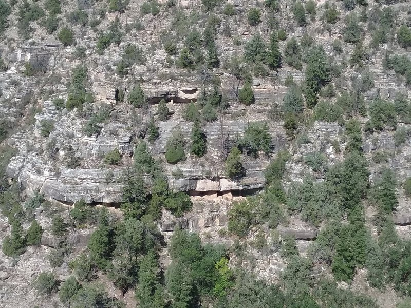 View of cliff dwellings